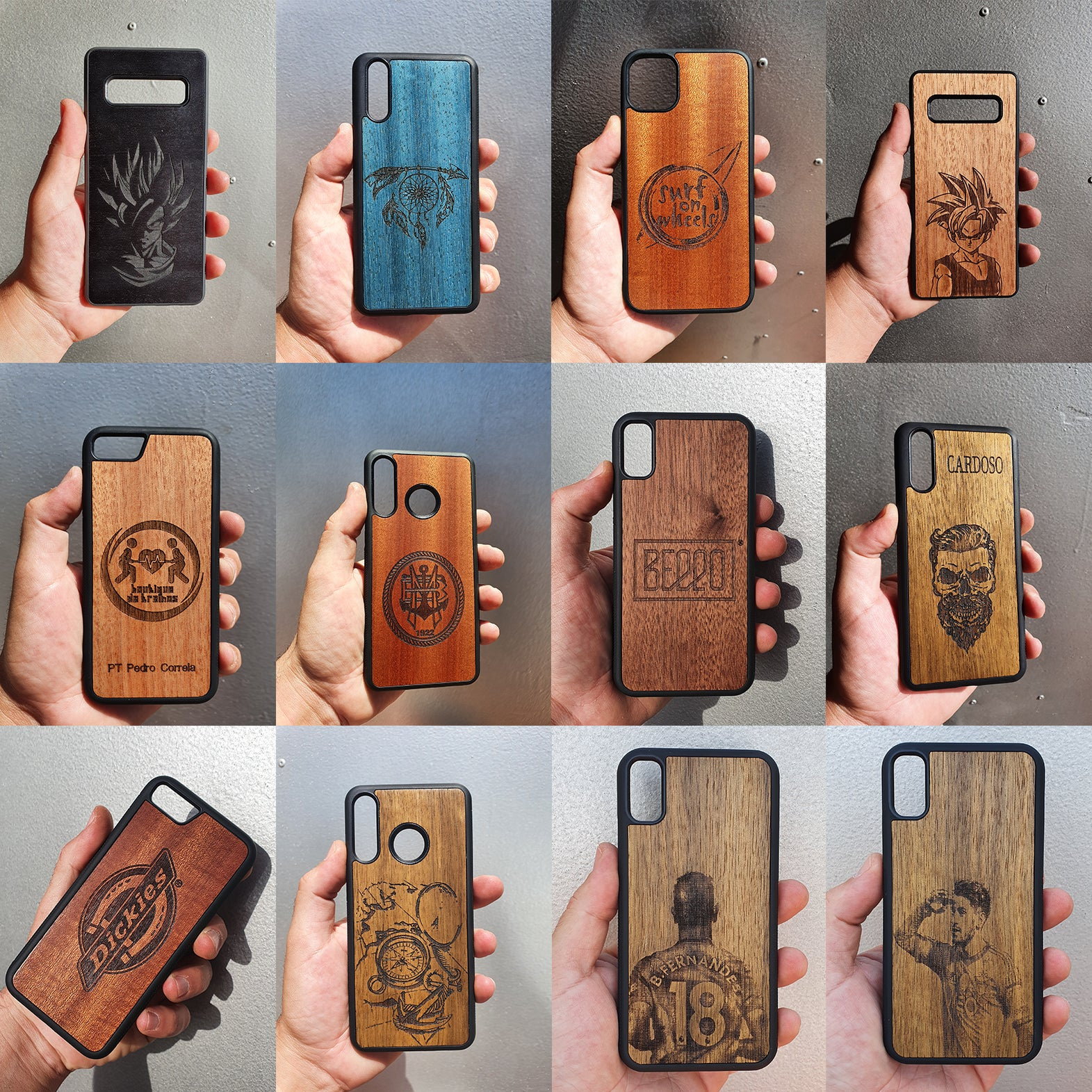 engrave wood cases, custom cases