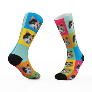 Custom Socks with Your Cats Face