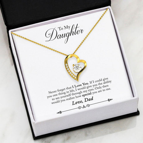 Daddy 2 Daughter Necklace with Message Card