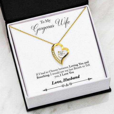 Heart Necklace with Message Card