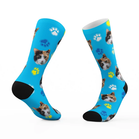 Image of Custom Socks with Your Cats Face