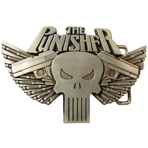 Punisher Belt Buckle with Guns