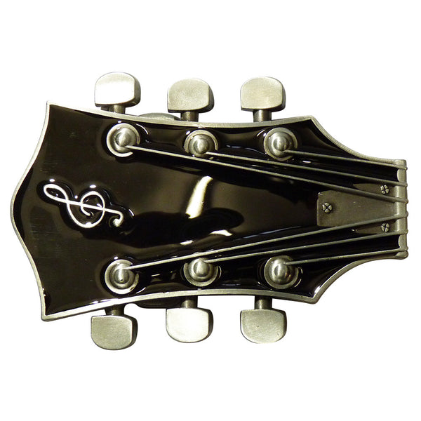 Guitar Head Belt Buckle in Black - BBT Clothing - 2