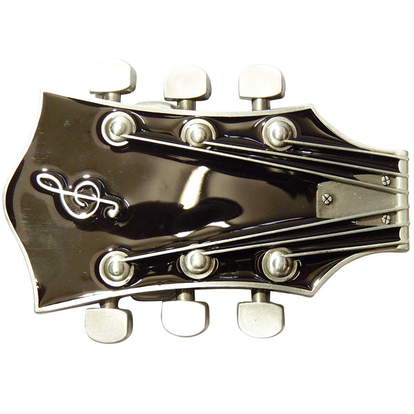 Guitar Head Belt Buckle in Black - BBT Clothing - 3