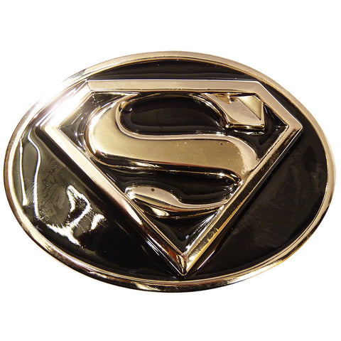 Superman Belt Buckle - Black Shield
