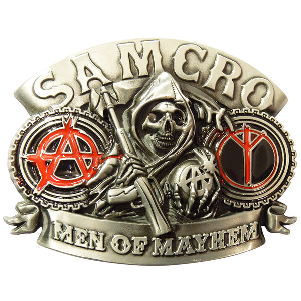 Sons Of Anarchy Belt Buckle - Biker Club - BBT Clothing - 3