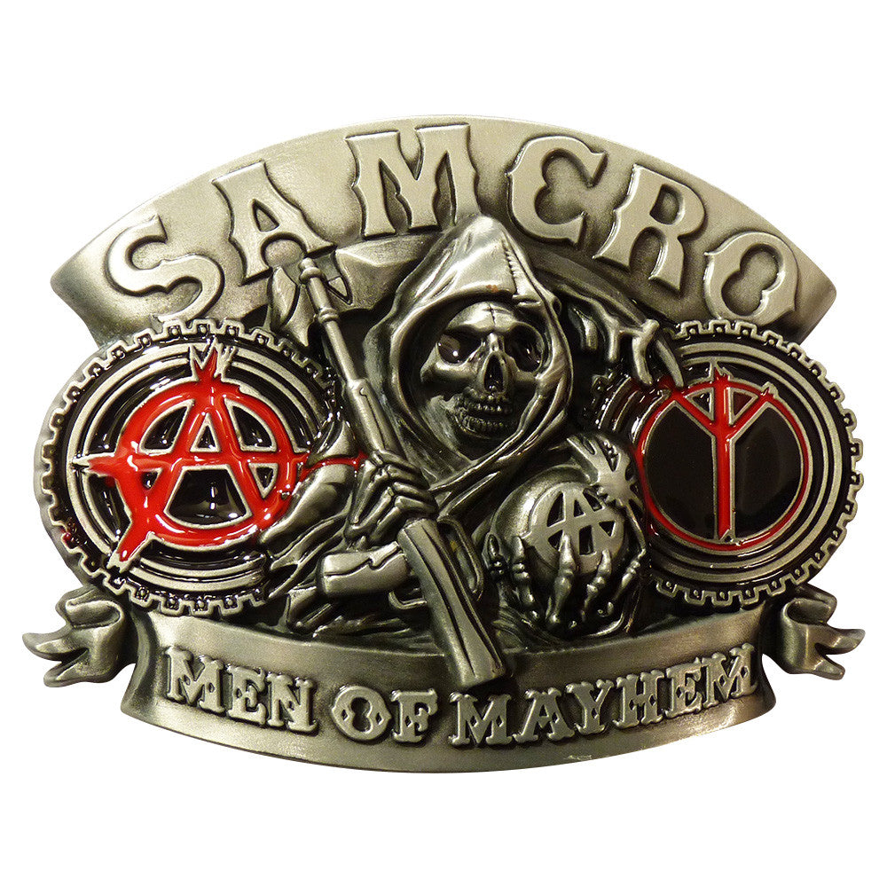 Sons Of Anarchy Belt Buckle - Biker Club - BBT Clothing - 1