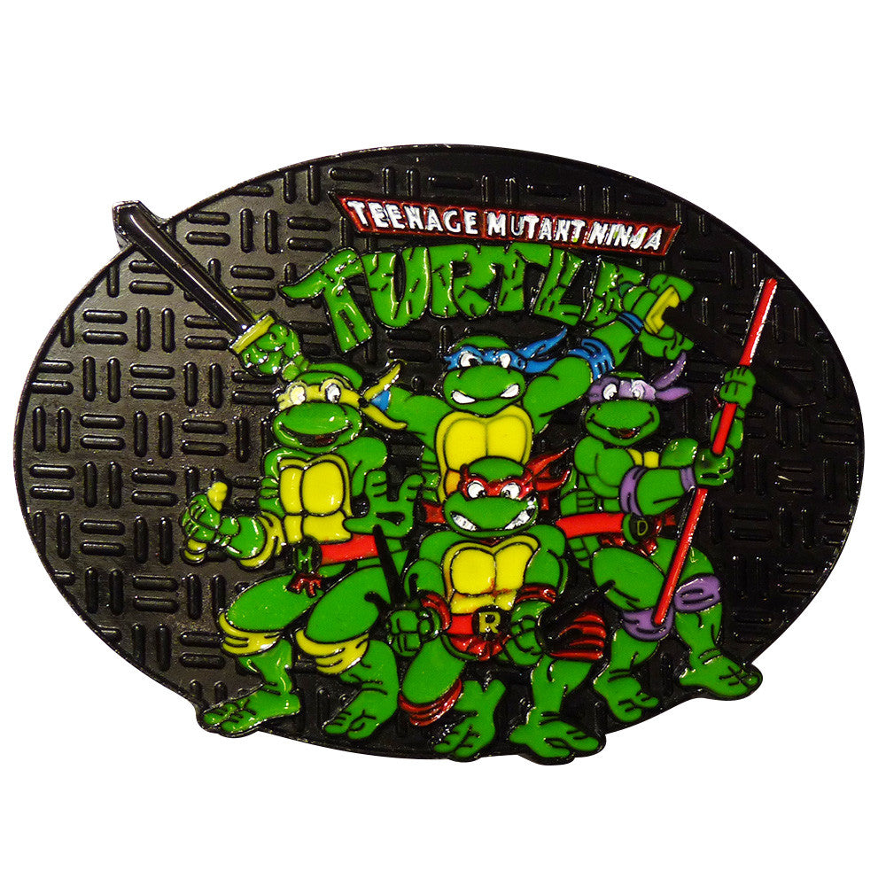 Ninja Turtle Belt Buckle - Sewer Cover Group - BBT Clothing