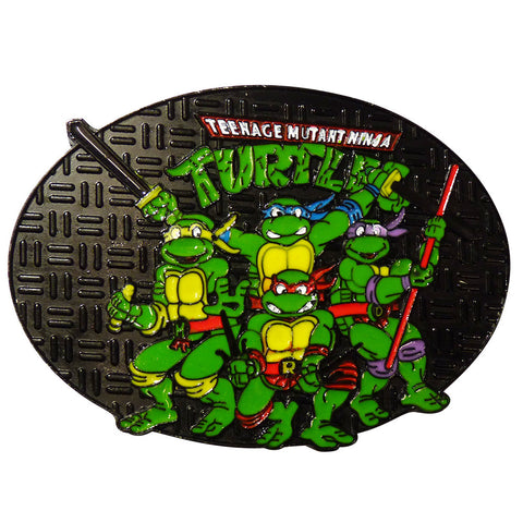 Ninja Turtle Belt Buckle - Sewer Cover Group