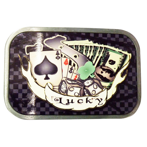 Lucky Tattoo Belt Buckle