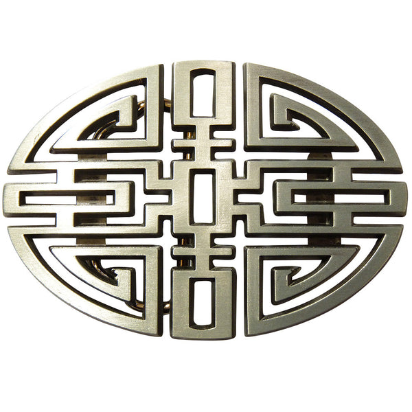 Chinese Knot Belt Buckle - Metal Finish - BBT Clothing