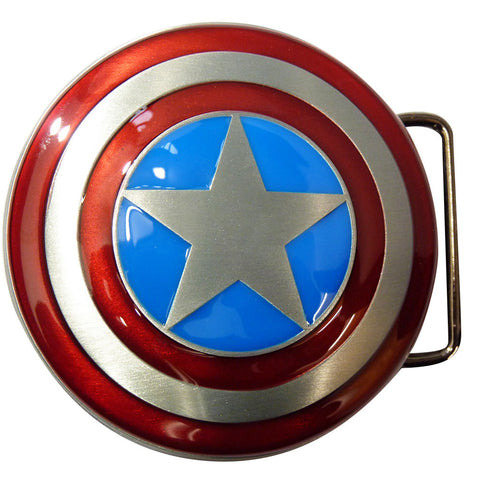 Captain America Belt Buckle - Logo Shield