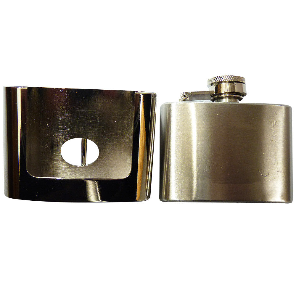 Hip Flask Belt Buckle - Stainless Steel - BBT Clothing - 1