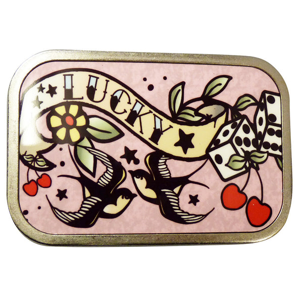 Tattoo 'Lucky' Belt Buckle - BBT Clothing - 2
