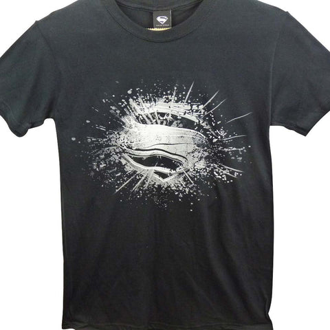 Superman T-Shirt - Man of Steel Logo Grey