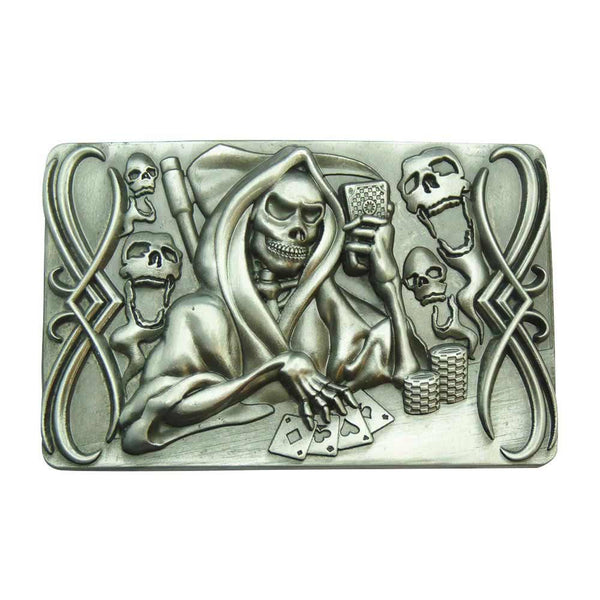 Grim Reaper Belt Buckle - Gambling - BBT Clothing - 2