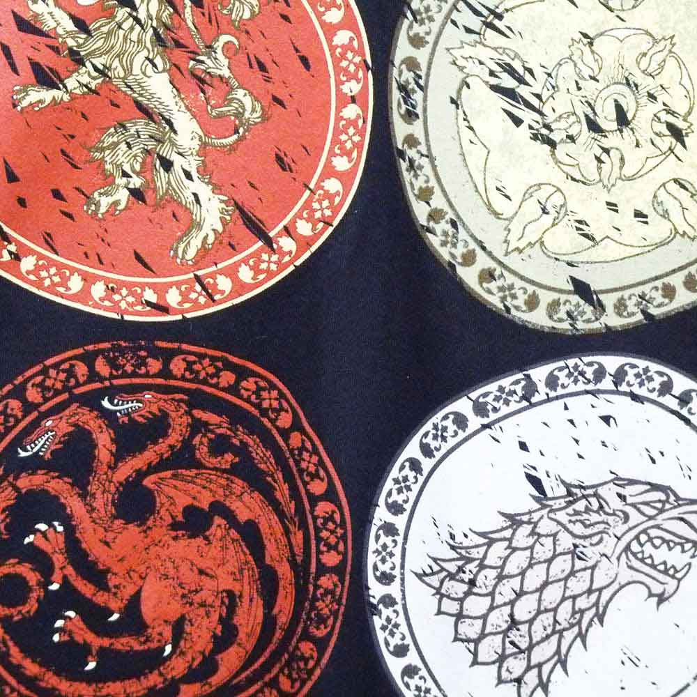 Game of Thrones T-Shirt - Circle House Crests - BBT Clothing - 3