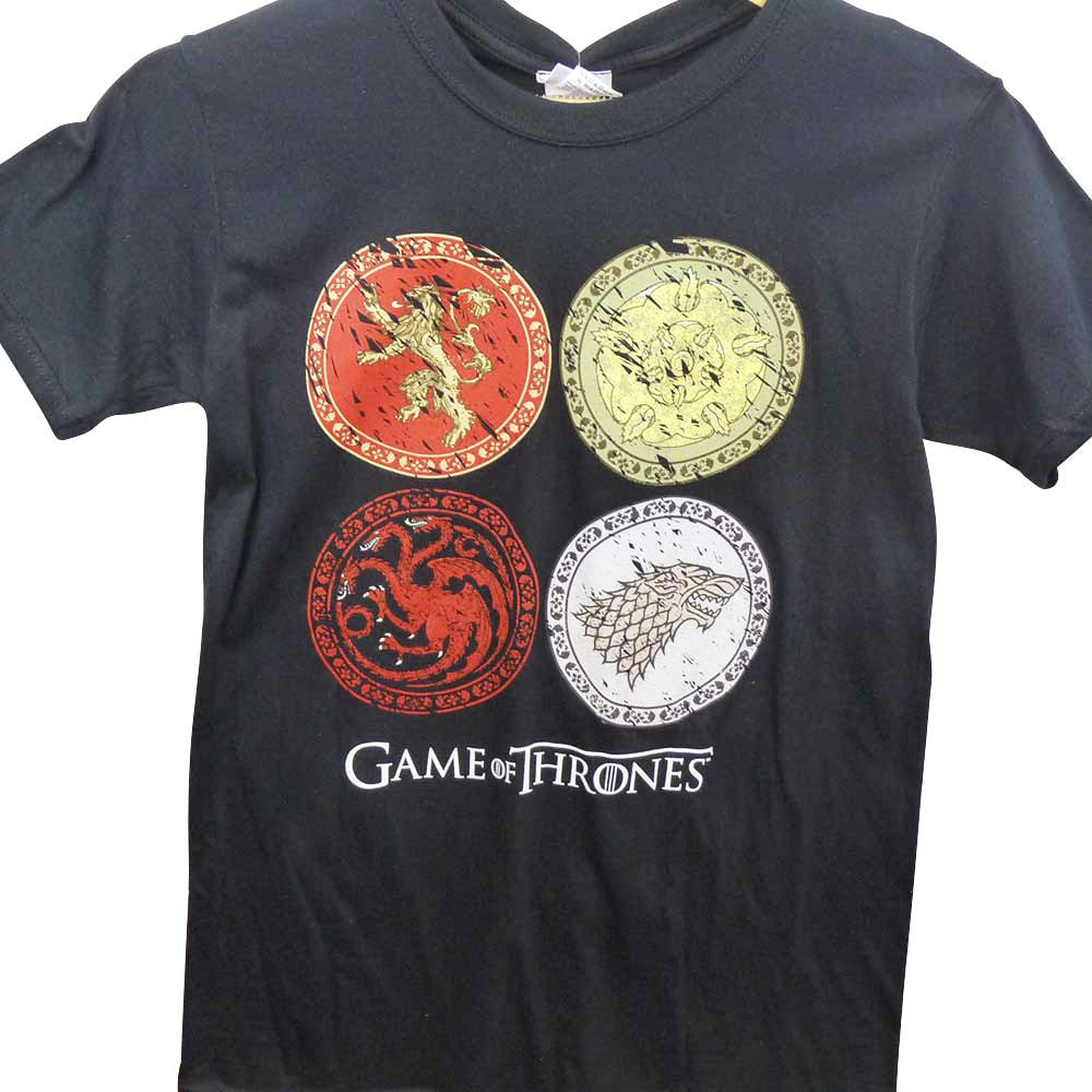 Game of Thrones T-Shirt - Circle House Crests - BBT Clothing - 1