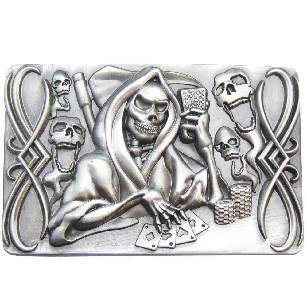 Grim Reaper Belt Buckle - Gambling - BBT Clothing - 1