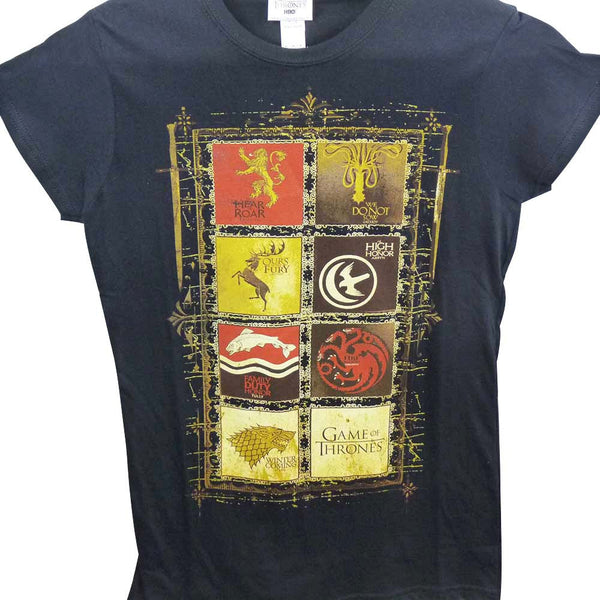 Game of Thrones T-Shirt - Ladies House Crests - BBT Clothing - 1