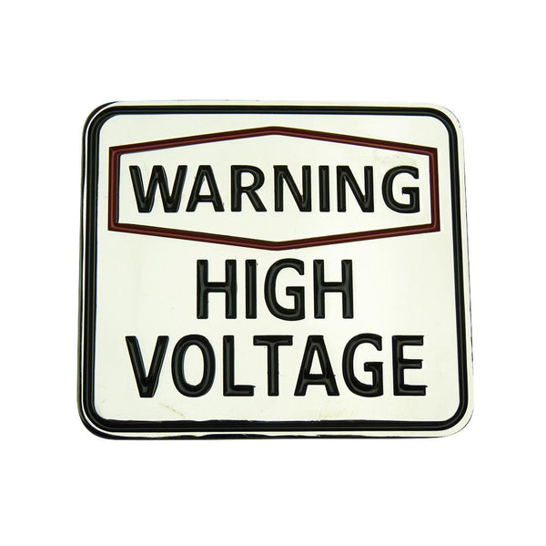 Warning High Voltage Belt Buckle - BBT Clothing - 2