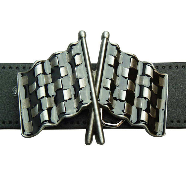 Chequered Flag Belt Buckle - BBT Clothing