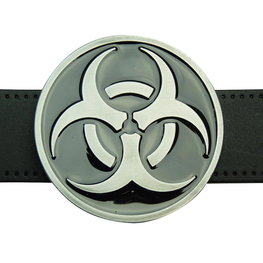 Biohazard Symbol Belt Buckle - BBT Clothing
