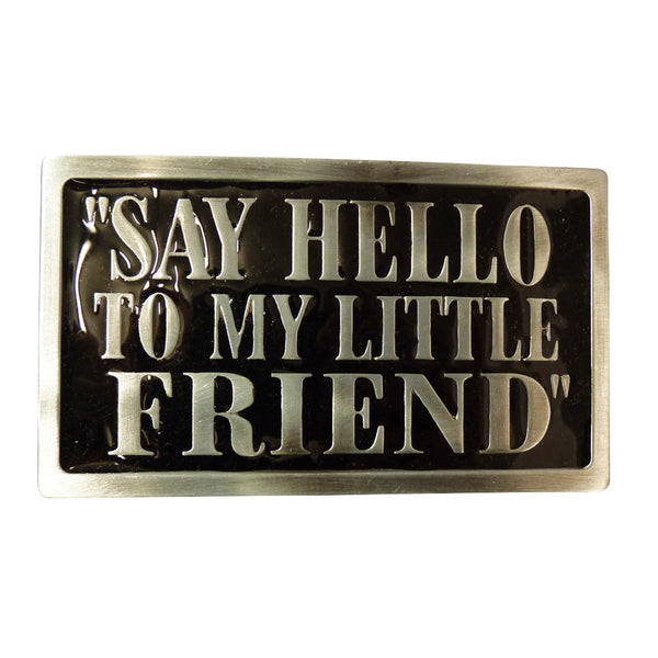 Say Hello To My Little Friend Scarface Belt Buckle - BBT Clothing - 1