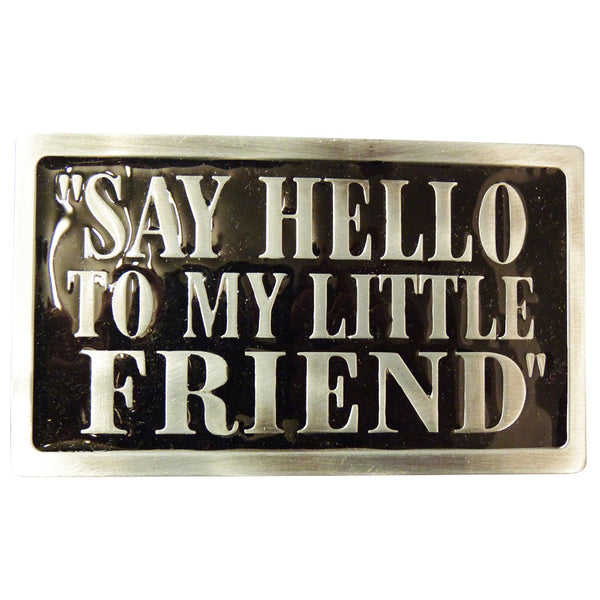 Say Hello To My Little Friend Scarface Belt Buckle - BBT Clothing - 2