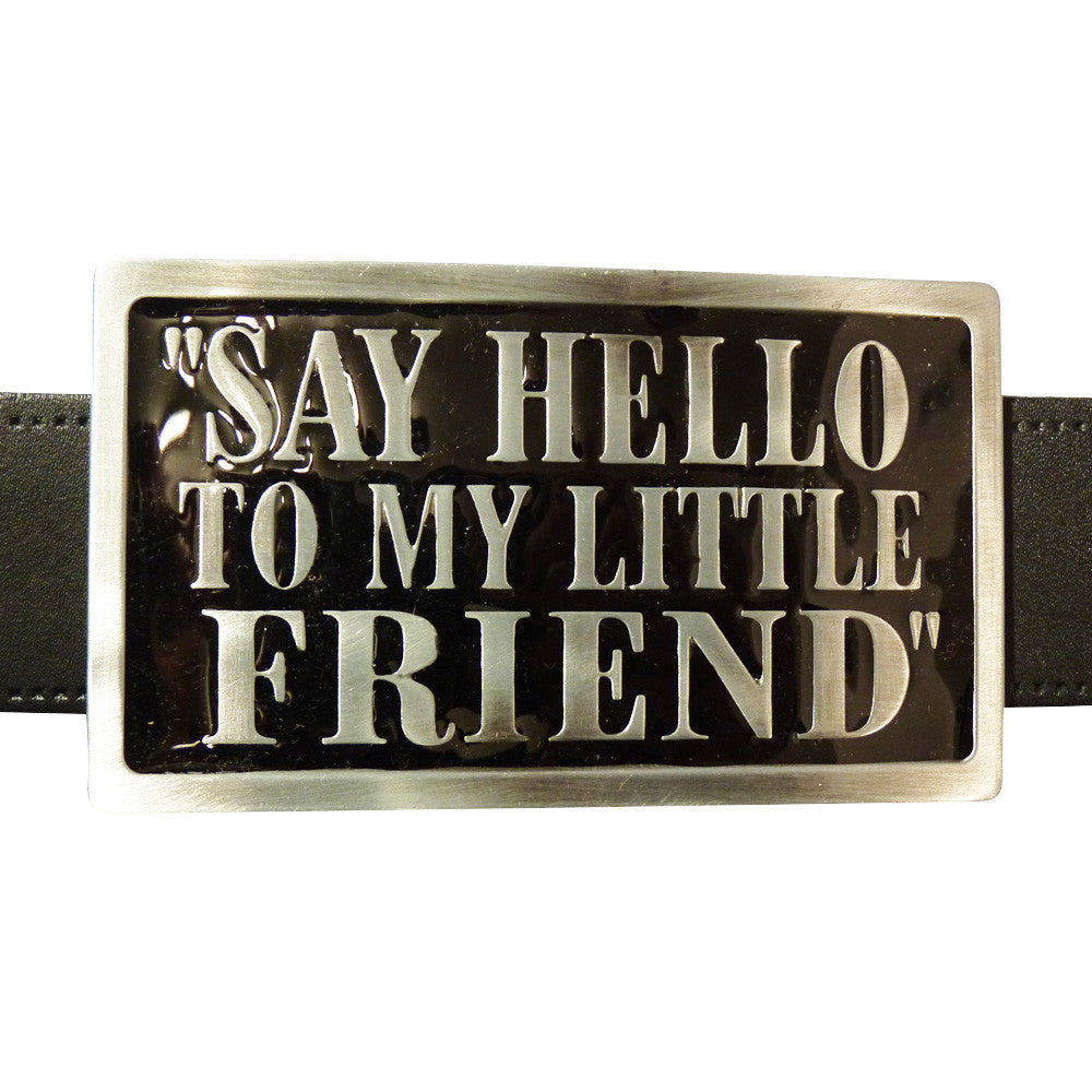 Say Hello To My Little Friend Scarface Belt Buckle - BBT Clothing - 3