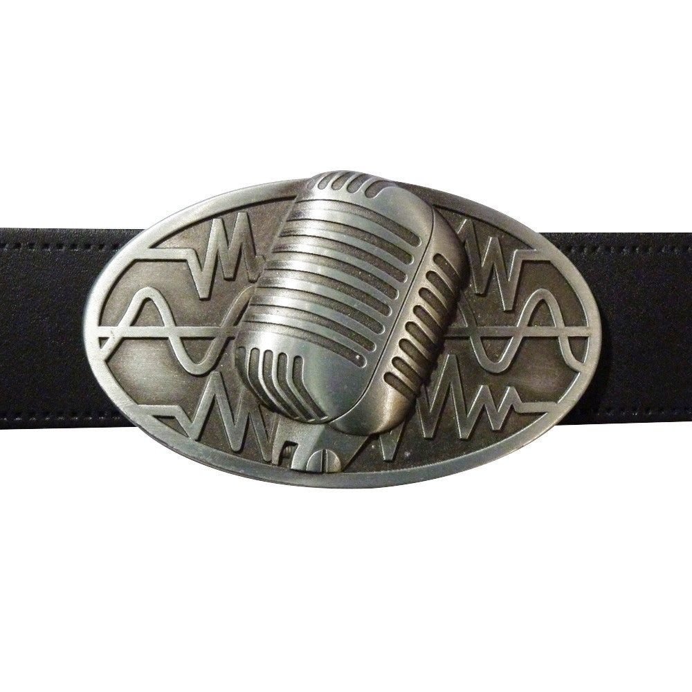 Microphone Belt Buckle - Classic Microphone - BBT Clothing - 3