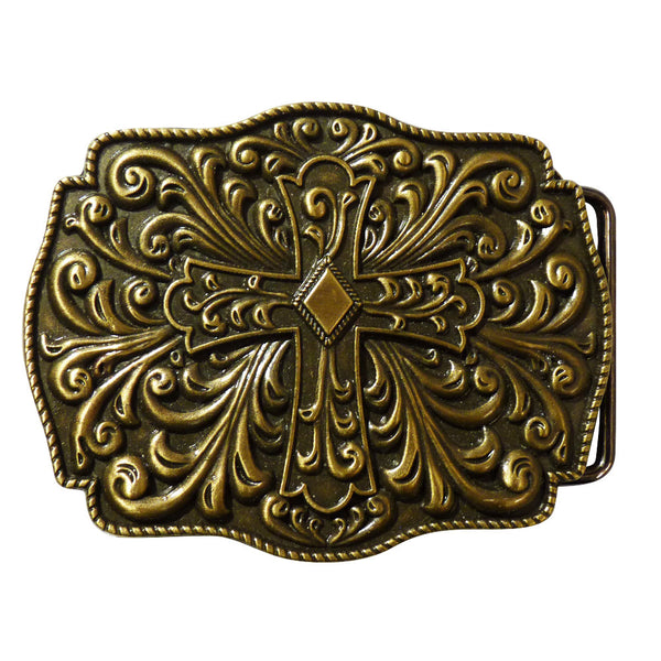 Cross Belt Buckle - Antique Finish - BBT Clothing - 4