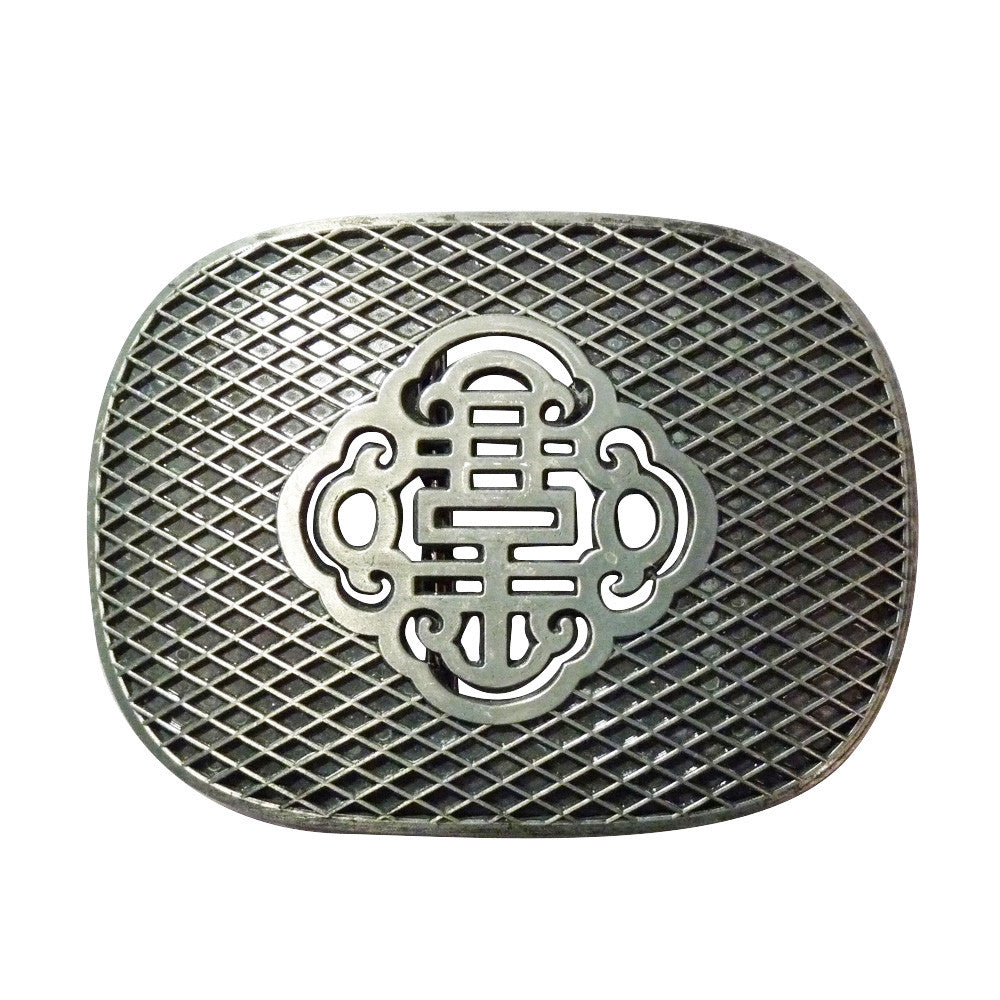 Reticulate Knot Belt Buckle - Metal Finish - BBT Clothing - 1
