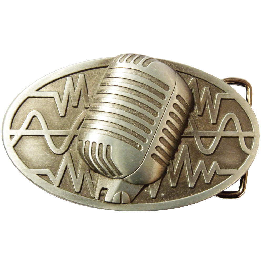 Microphone Belt Buckle - Classic Microphone - BBT Clothing - 2