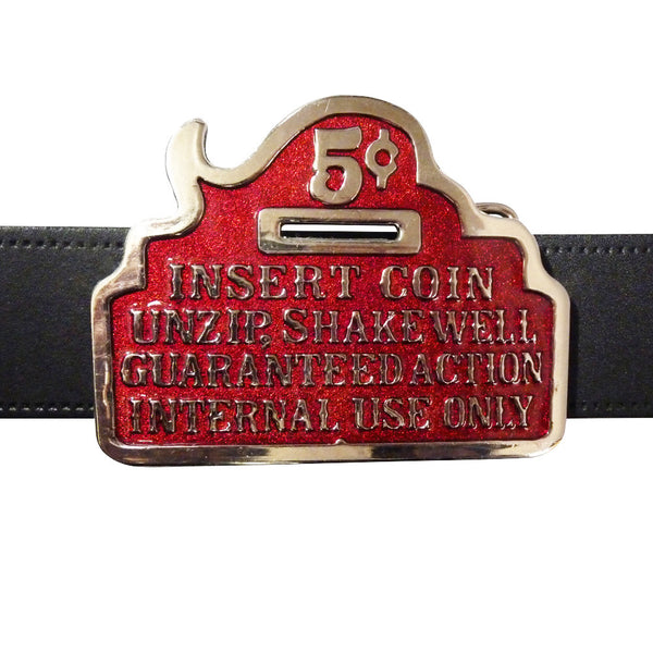 Insert Coin Guaranteed Action Buckle - BBT Clothing - 3