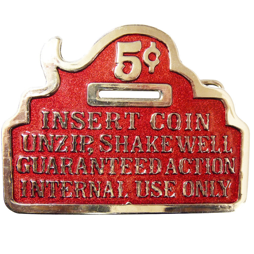 Insert Coin Guaranteed Action Buckle - BBT Clothing - 2