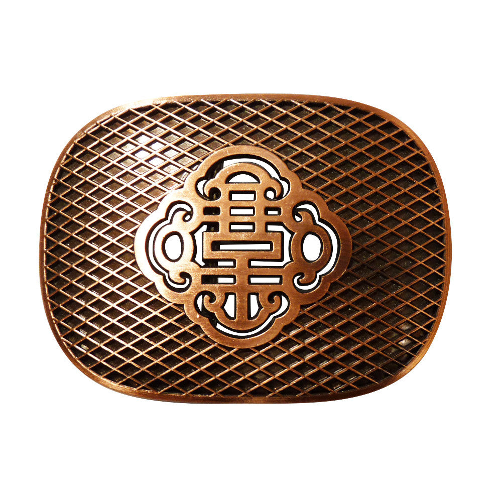 Reticulate Knot Belt Buckle - Brass Finish - BBT Clothing - 1