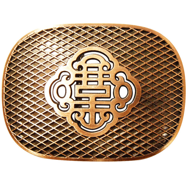 Reticulate Knot Belt Buckle - Brass Finish - BBT Clothing - 2