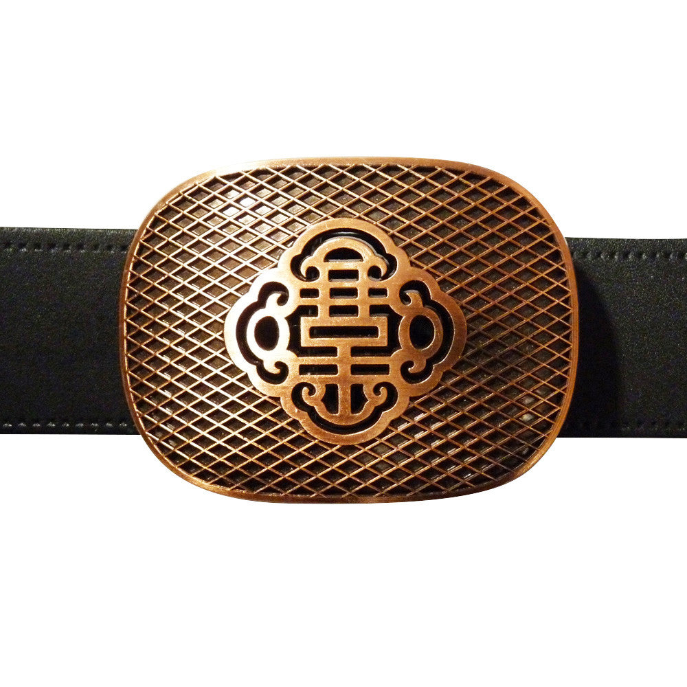 Reticulate Knot Belt Buckle - Brass Finish - BBT Clothing - 3