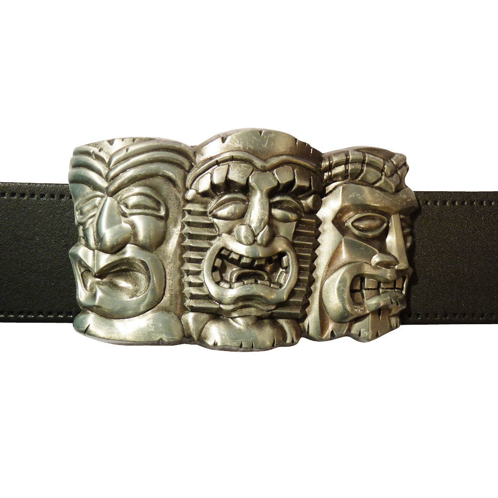 Totem Pole Heads Buckle - BBT Clothing - 3
