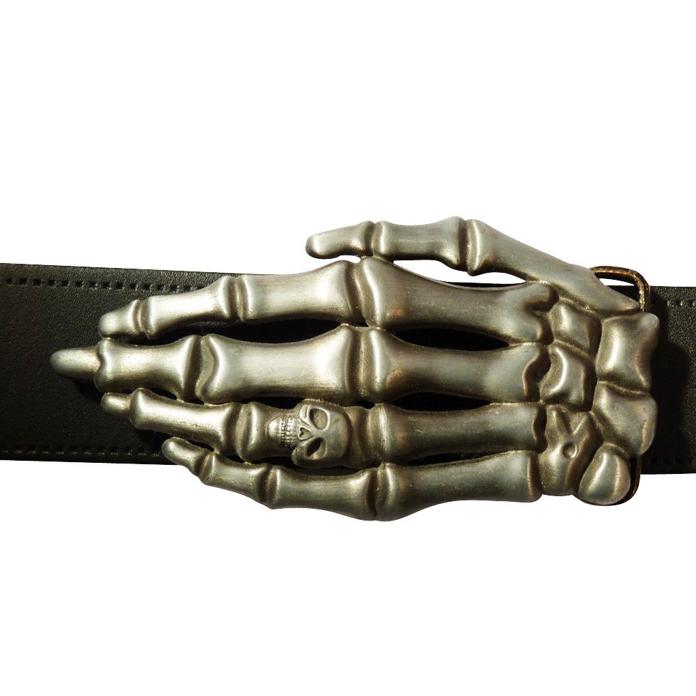 Skeleton Hand Belt Buckle - BBT Clothing - 4