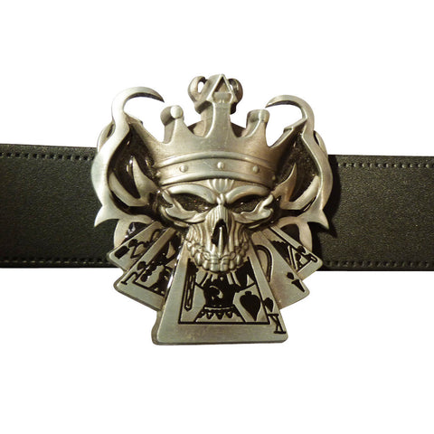 King of Poker Belt Buckle