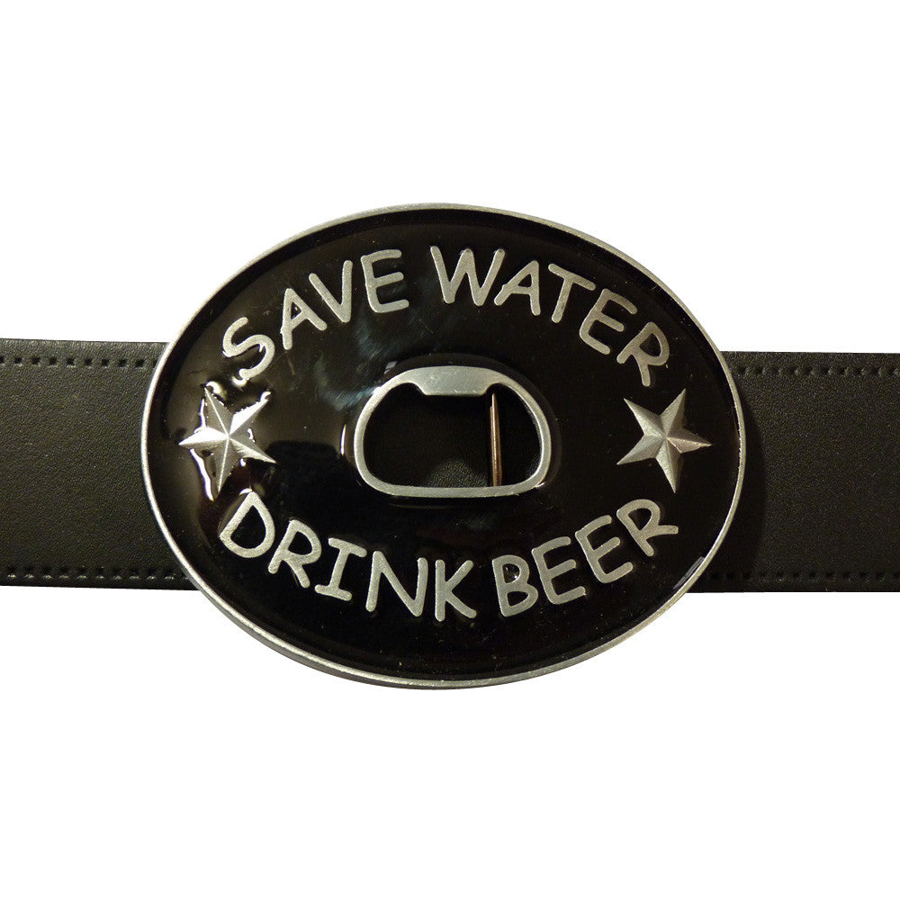 Save Water Drink Beer Bottle Opener Belt Buckle - BBT Clothing - 3