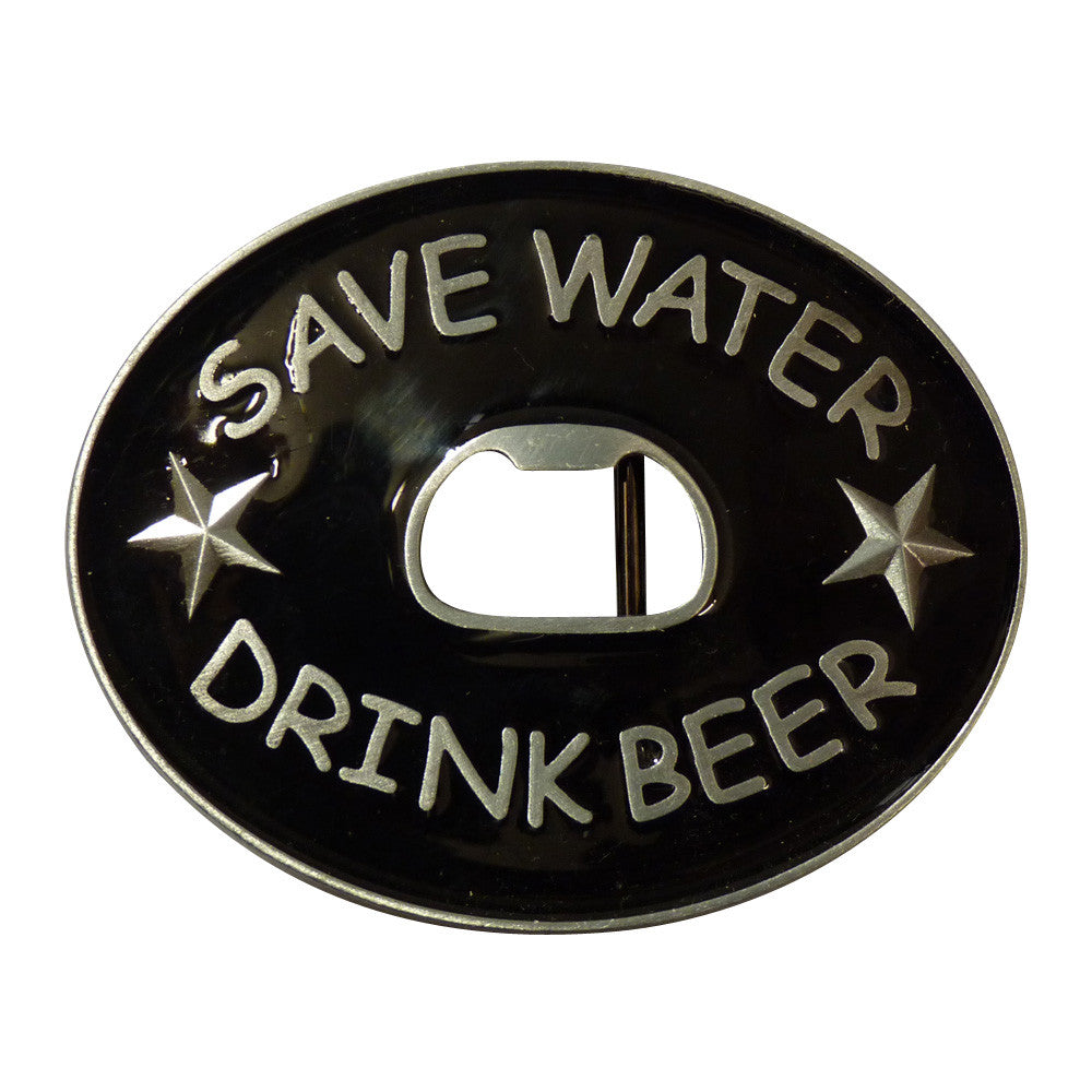 Save Water Drink Beer Bottle Opener Belt Buckle - BBT Clothing - 4