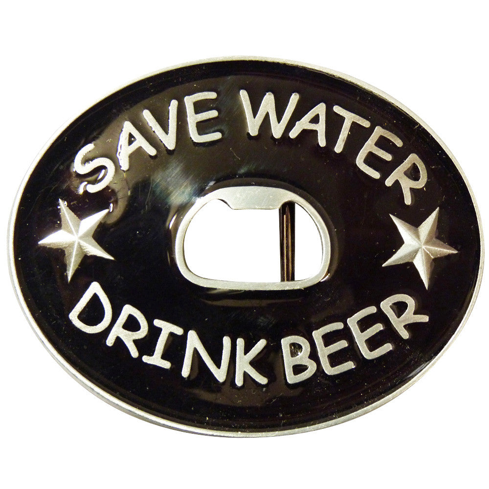 Save Water Drink Beer Bottle Opener Belt Buckle - BBT Clothing - 1