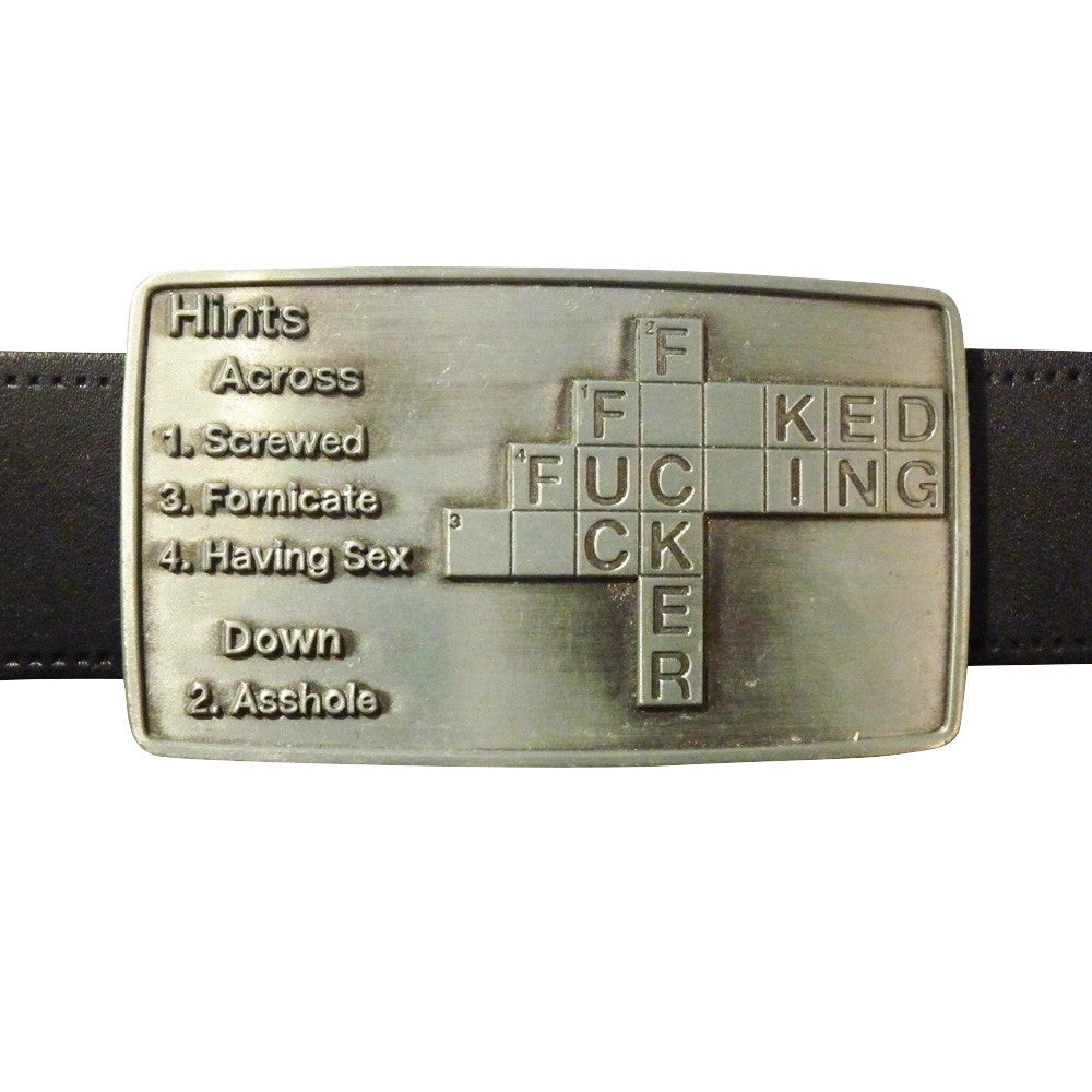 F*ck Cross Word Belt Buckle - BBT Clothing - 3
