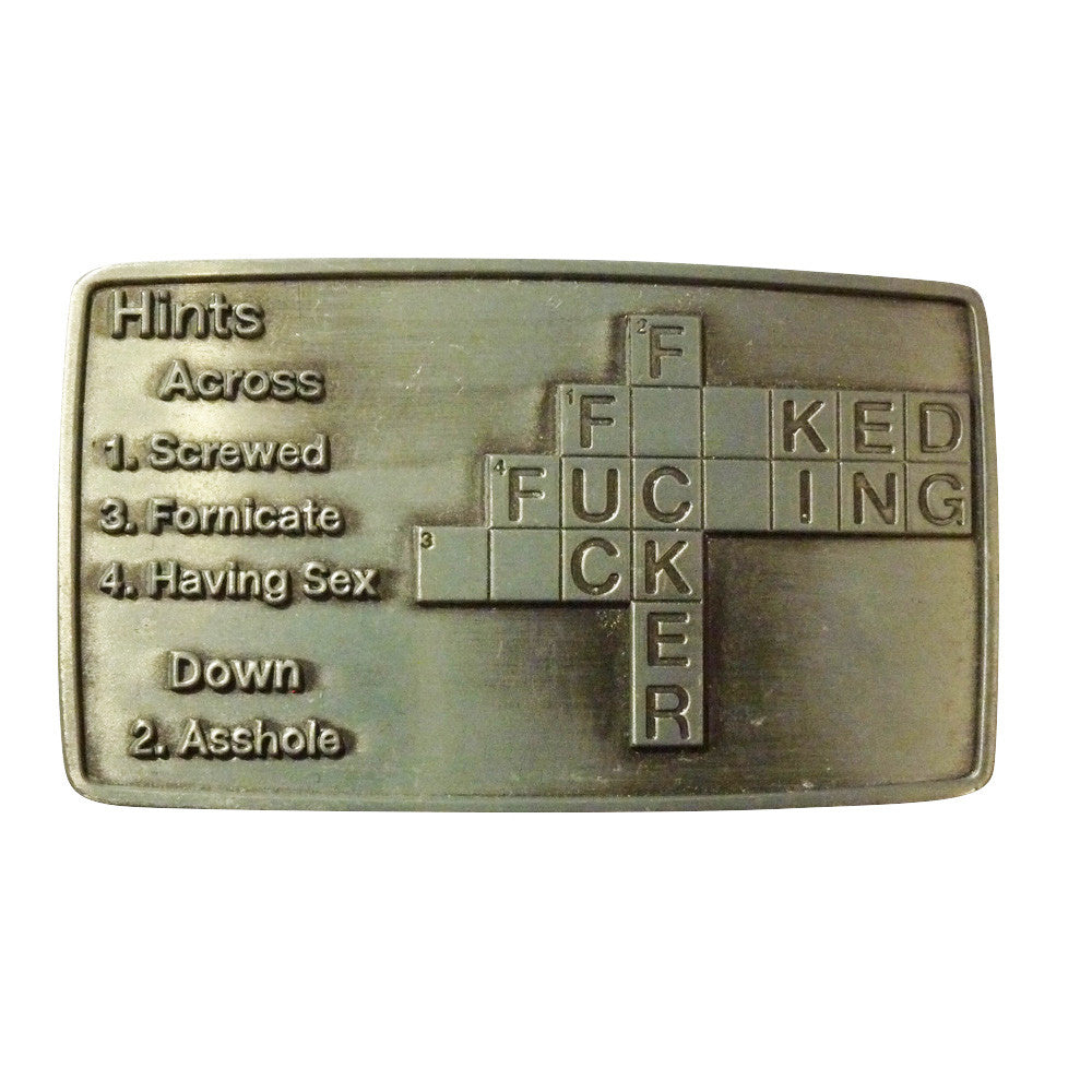 F*ck Cross Word Belt Buckle - BBT Clothing - 1