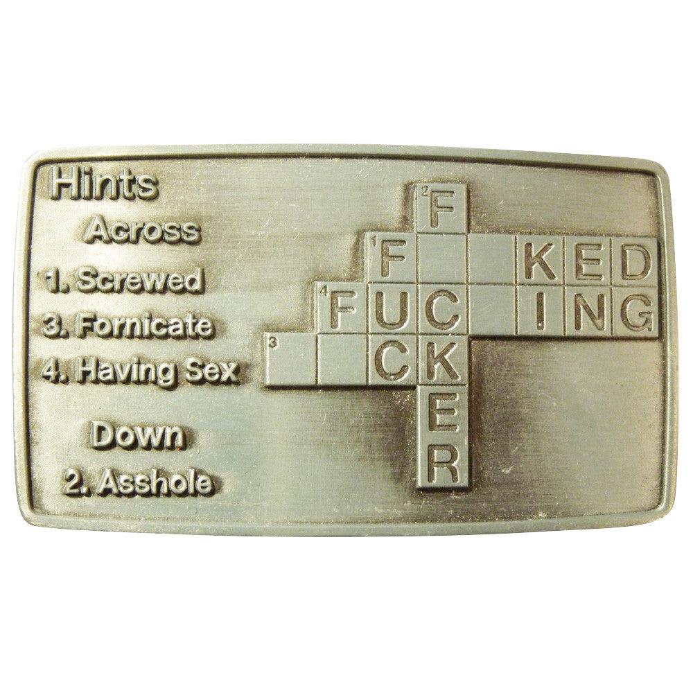 F*ck Cross Word Belt Buckle - BBT Clothing - 4