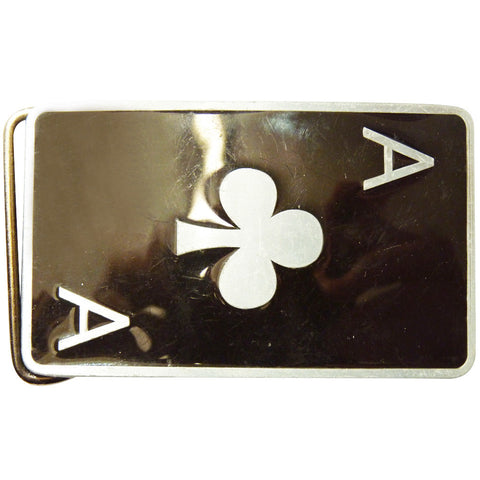 Ace of Clubs Card Belt Buckle