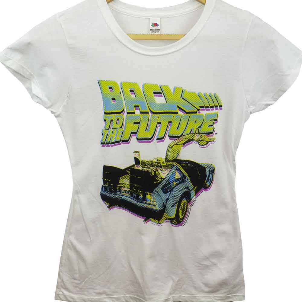Back To The Future T-Shirt - Ladies Neon - BBT Clothing - 1
